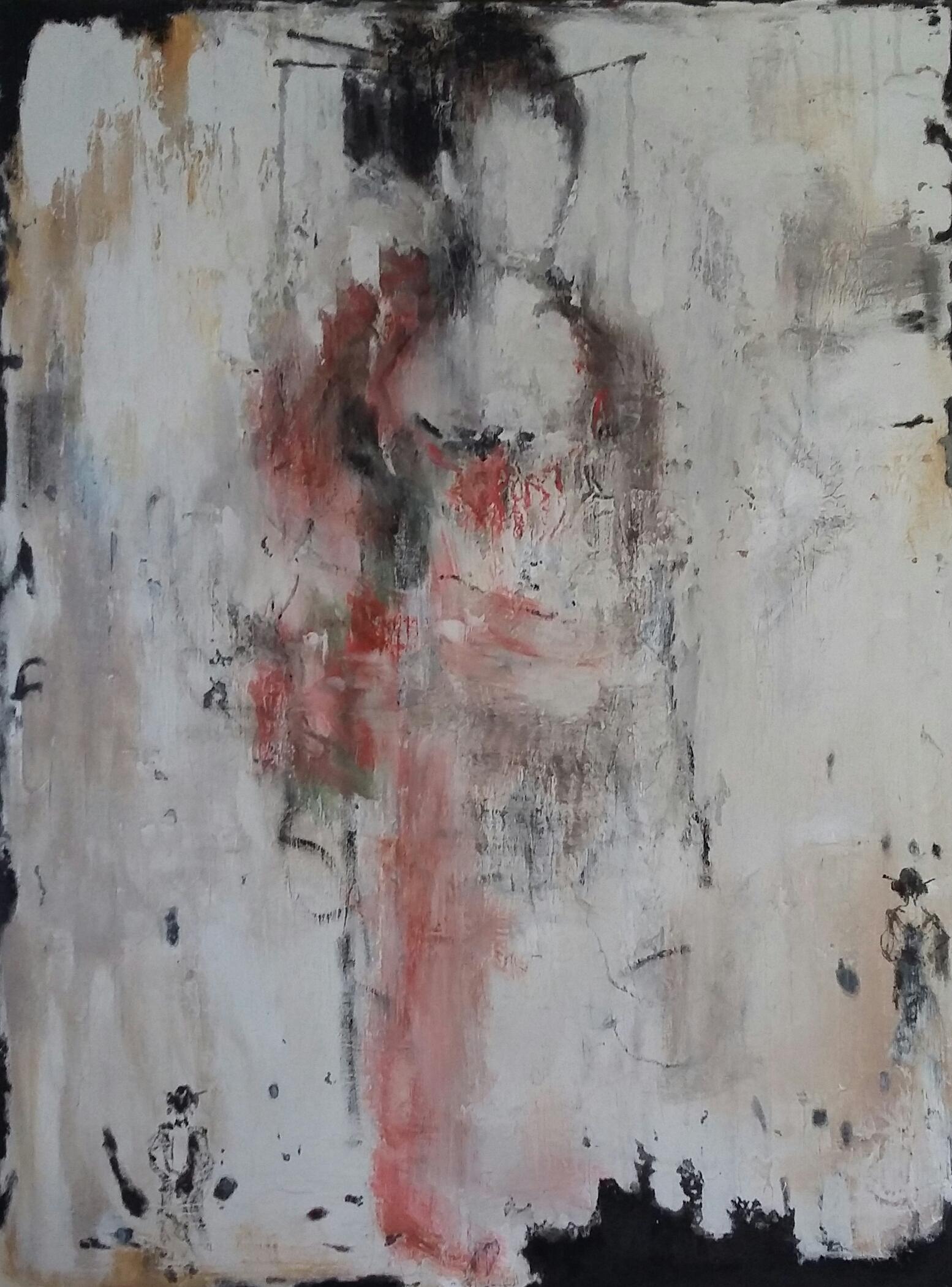 """""""Japanerin"""" 120 x 90 cm,Mischtechnik auf Leinwand - verkauft -"""