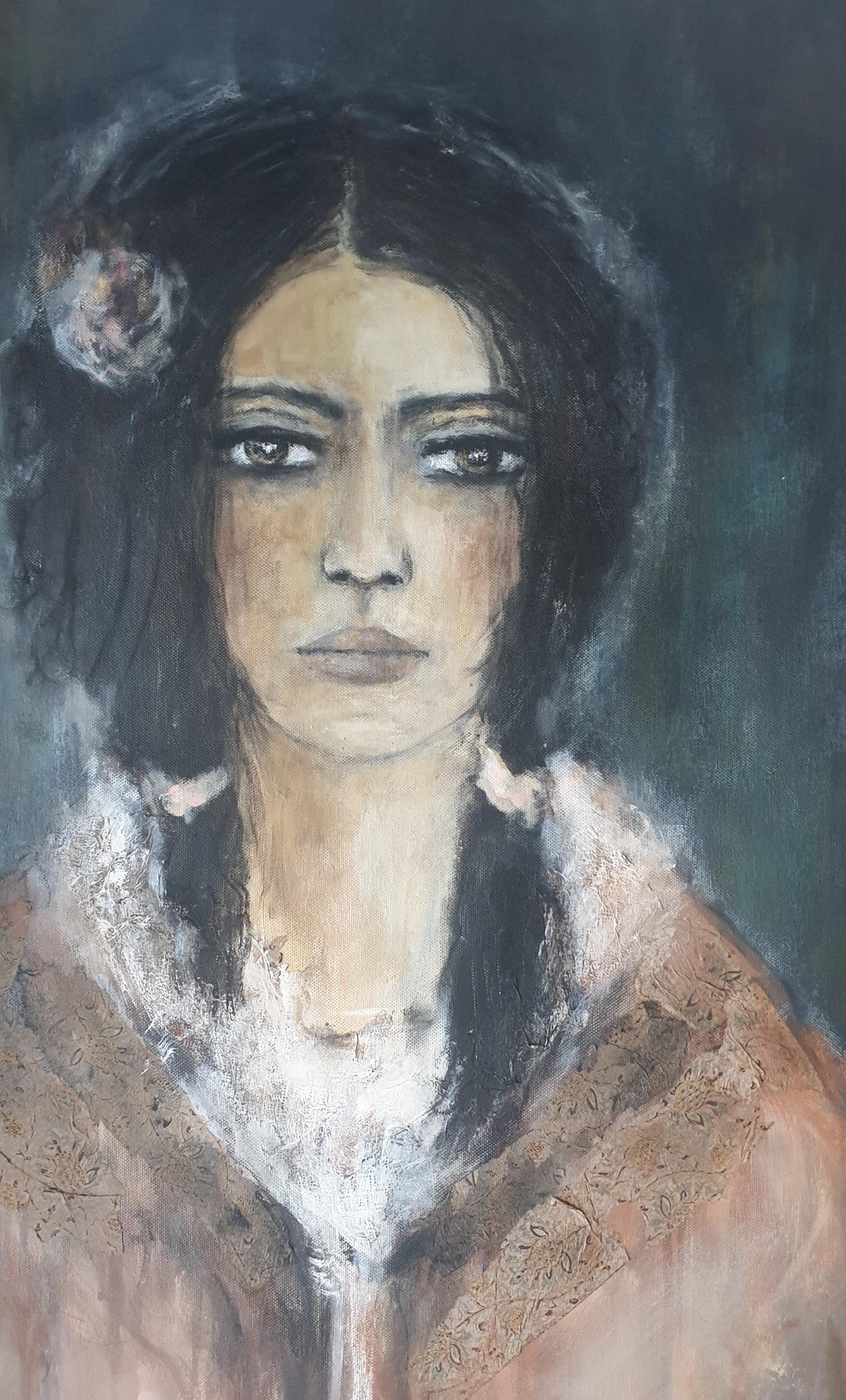"""""""Djamila"""" Acryl auf Leinwand 63 cm x 53 cm - verkauft -"""