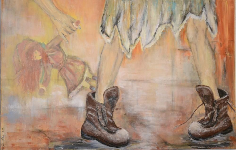 """Einsam"" 120x90 cm, Acryl auf Leinwand, Acrylmasse - verkauft -"