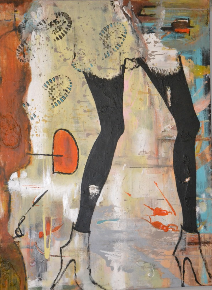 """Highheels"" 120x90 cm, Acryl auf Leinwand - verkauft -"