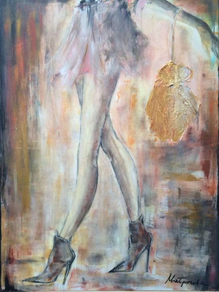 """""""ohne Titel"""" 120x90 cm, Acryl auf Leinwand, Collage - verkauft -"""