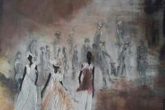 """""""Maria"""" 70x50 cm, Acryl auf Leinwand, Collage - unverkäuflich -"""