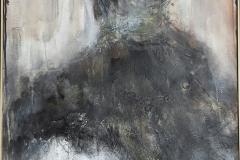"""Madame"" 120x60 cm, Acryl auf Leinwand, Collage - verkauft -"