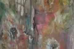 """Asiatin"" 122 cm x 42 cm, Acryl auf Leinwand mit Rahmen - verkauft -"
