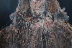 """""""die Herzogin"""" Mix Media auf Leinwand 126 cm x 86 cm - verkauft -"""