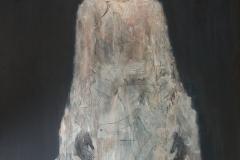 """Herzogin II"" Mix Media (Acryl, Kohle, Papier) auf Leinwand 100 cm x 80 cm - verkauft -"
