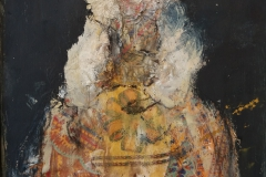 """""""Herzogin III"""" Collage (Acryl, Stoff, Kohle) auf Papier mit Rahmen 31 cm x 23 cm verkauft"""