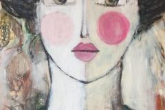 """""""FRIDA"""" Acryl auf Leinwand 160 cm x 85 cm - verkauft -"""