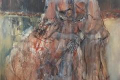 """""""Kaiserin III"""" Acryl, Papier, Kohle auf Leinwand 126 cm x 86 cm verkauft"""