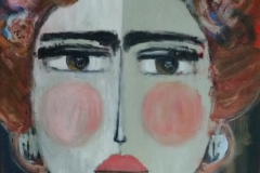 """""""umgänglich"""" Acryl auf Leinwand 120 cm x 90 cm"""