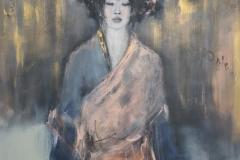 """""""Erblühen I """" Acryl auf Leinwand 126 cm x 86 cm verkauft"""