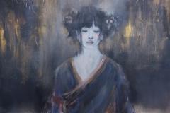 """""""Erblühen III"""" Acryl auf Leinwand 70 cm x 70 cm - verkauft -"""
