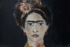 """Rebellin I"" Acryl auf Leinwand 103 cm x 103 cm verkauft"