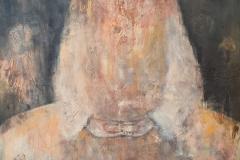 """Buddha"" Mix Media auf Leinwand 150 cm x 94 cm verkauft"