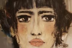 """gefühlvoll"" Acryl auf Leinwand  100 cm x 70 cm auf Leinwand verkauft"