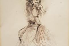 """""""Mannequin"""" Bleistift,Kohle,Wasssefarben auf Papier 31 cm x 21 cm mit Rahmen"""