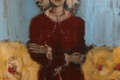 """Magdalena"" Acryl,Kohle,Struktur auf Leinwand 100 cm x 80 cm verkauft"