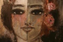 """gütig"" Acryl auf Leinwand 120 cm x 120 cm"