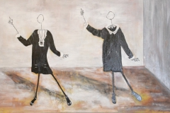 """Avenue des Champs -Elysées"" 100x40 cm, Acryl auf Leinwand - verkauft -"