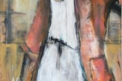 """""""Die Eilende"""" 100x70 cm, Acryl auf Leinwand - verkauft -"""