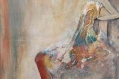 """""""Die Sitzende"""" 100x70 cm, Acryl auf Leinwand - verkauft -"""