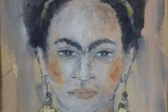 """""""Fri.Kah"""" 33 x 27 cm, Acryl , Kohle auf Papier mit Rahmen - verkauft -"""
