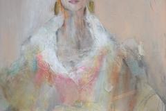 """Frida Kahlo"" 100x70 cm, Acryl auf Leinwand, Collage - unverkäuflich -"