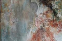 """Katharina"" 100x80, Acryl auf Leinwand, Collage - verkauft -"
