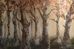 """""""wald"""" Acryl auf Leinwand 140 cm x 100 cm verkauft"""
